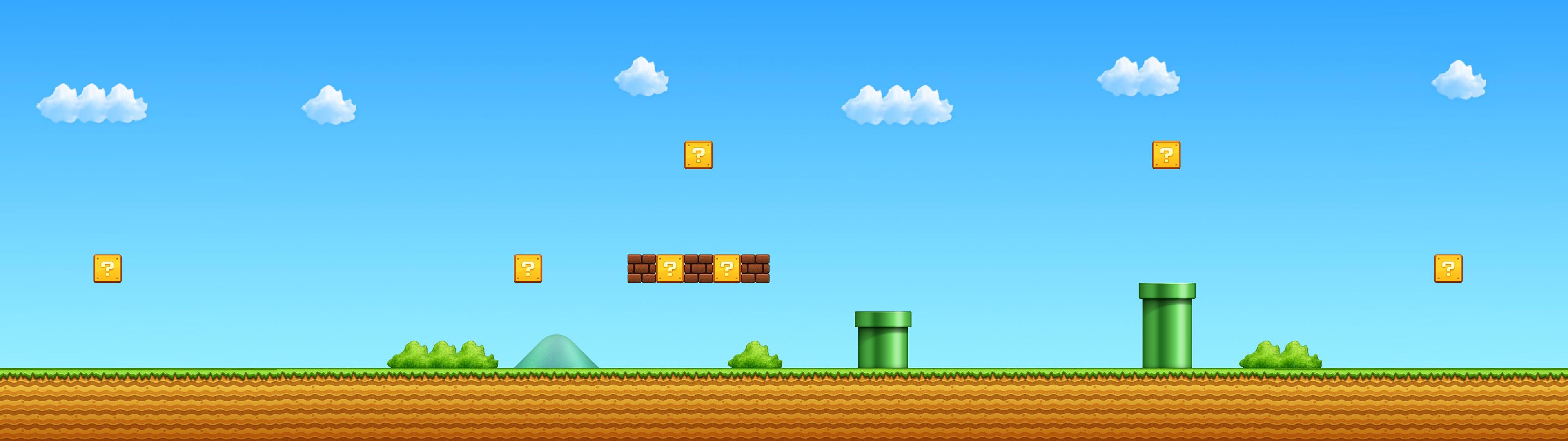 Download Super Mario 3840 x 1080 2560 x 1024 3840x1080