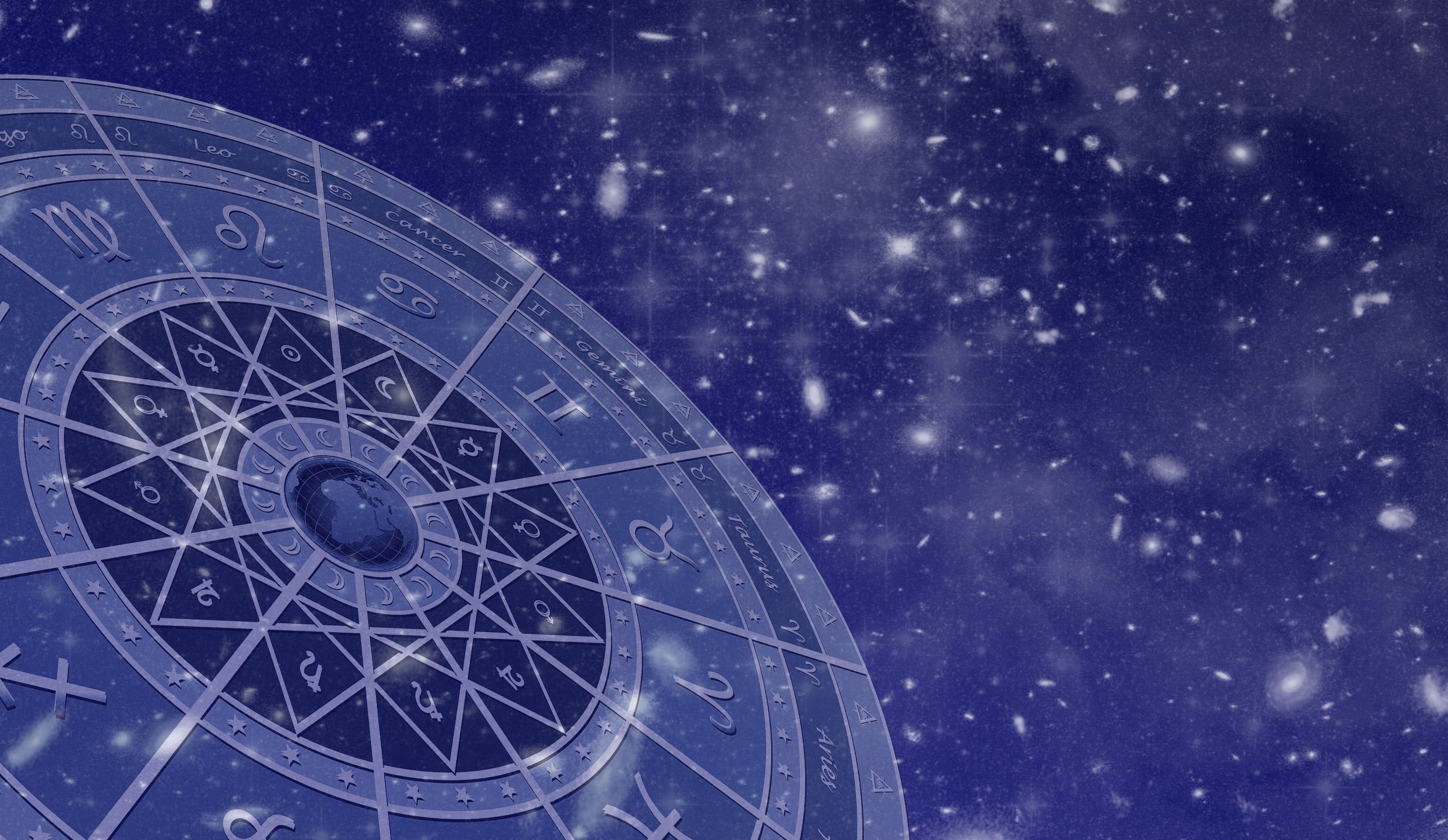of the zodiac on a blue background wallpapers and images   wallpapers 2989x1734