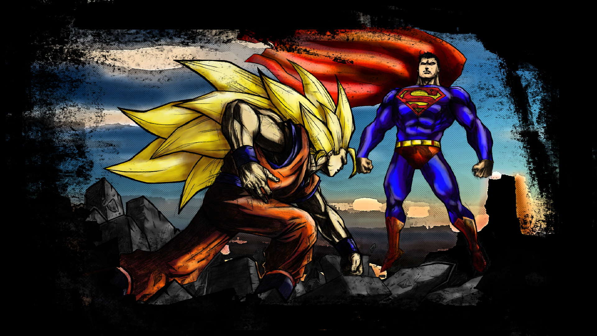 Dragon Ball Z Goku Vs Superman   [ src ] 1920x1080