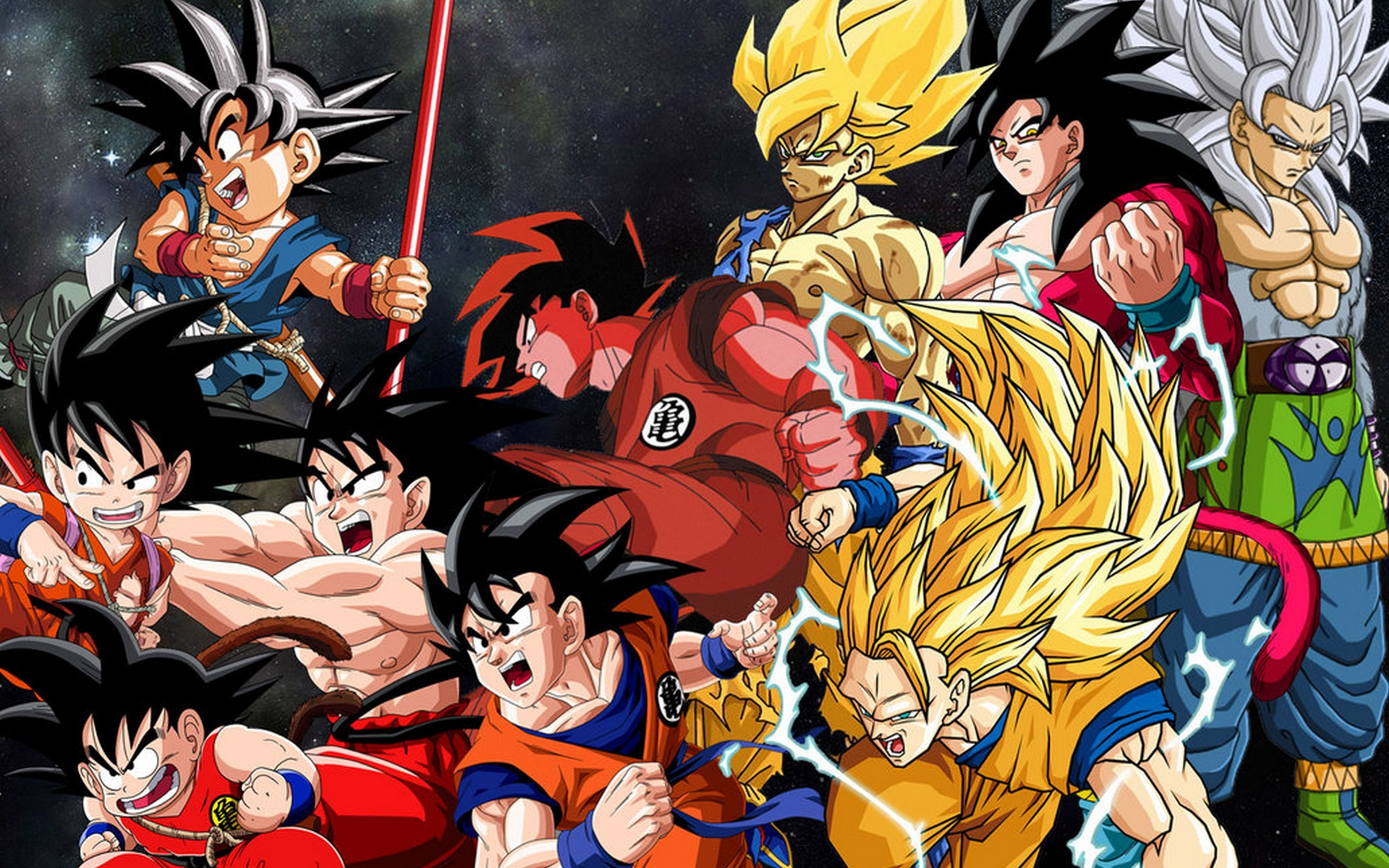 Dragon ball z goku wallpaper wallpapersafari - Dragon ball gt goku wallpaper ...