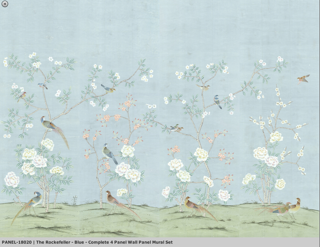 Sybaritic Spaces The Wait is Over Digital Chinoiserie Wallpapers 1062x821