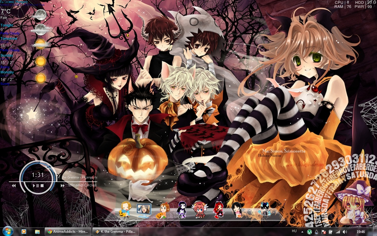 Anime wallpaper halloween jpg photo   17459 GALAXY Note Wallpaper 1280x800