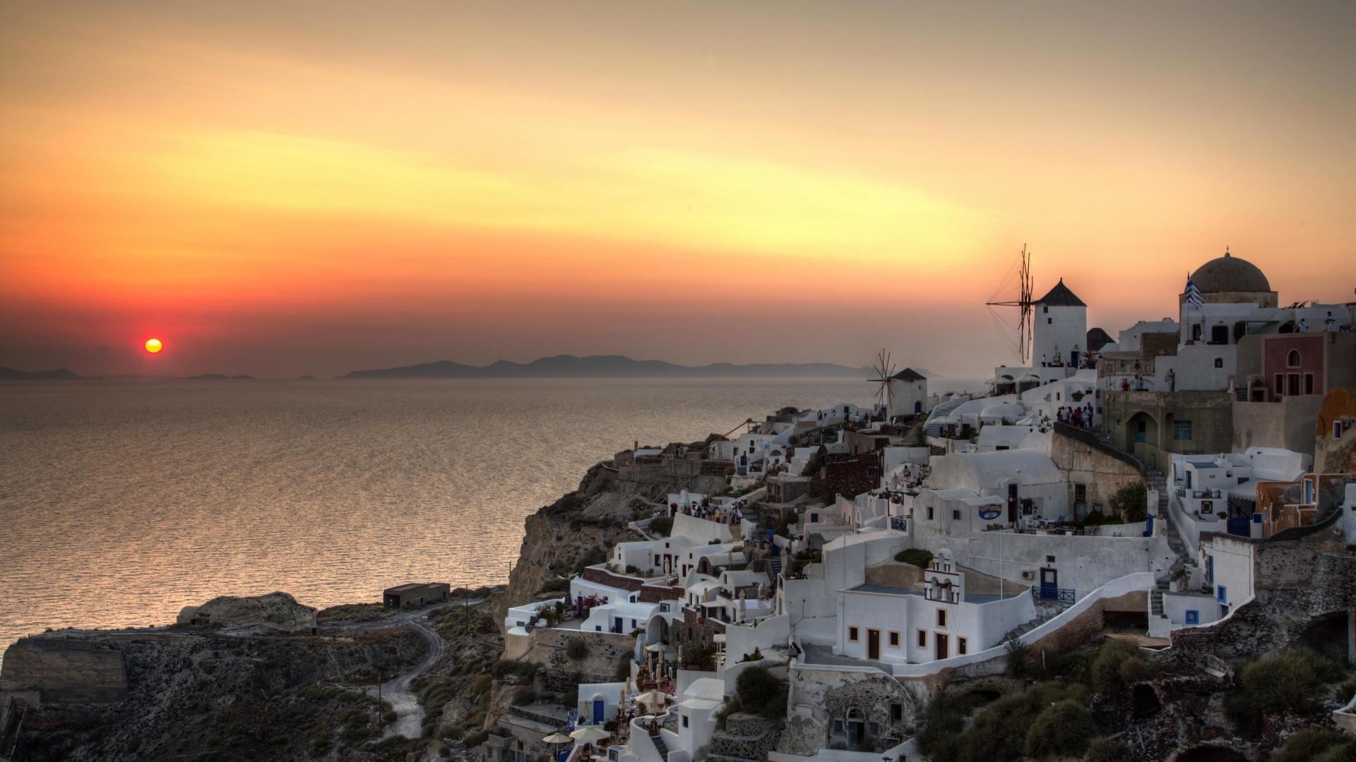 Greece Beach Wallpaper: Santorini Greece Desktop Wallpaper