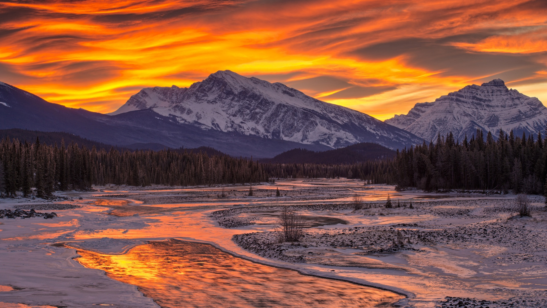 Snow Covered Mountains Wallpaper - WallpaperSafari Sunset Over Snowy Mountains
