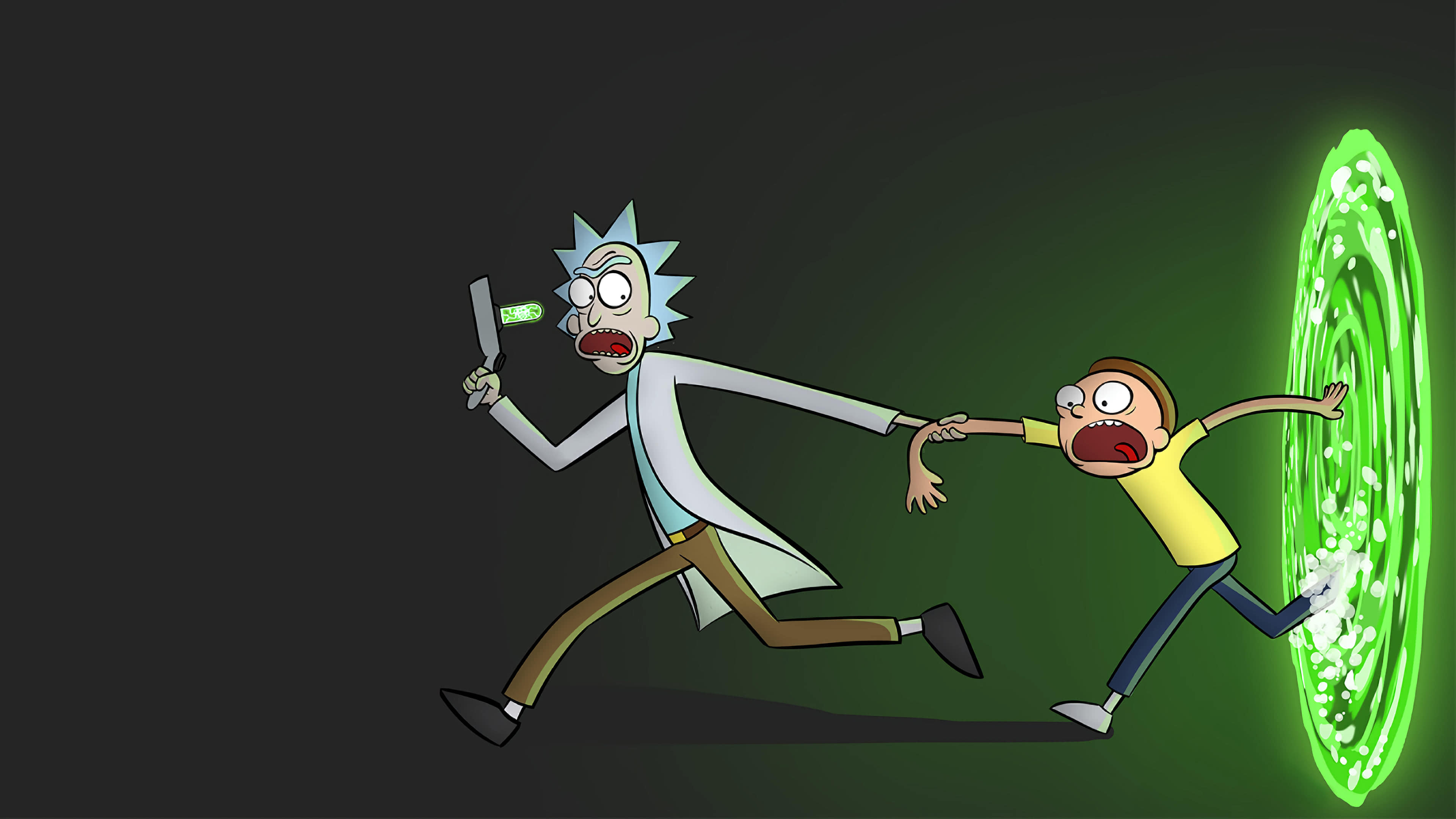 Rick And Morty Portal UHD 4K Wallpaper Pixelz 3840x2160