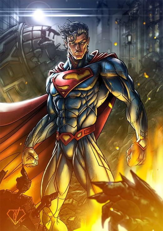 The Man of Steel Superman Soaring High   Illustrated Naldz Graphics 520x735