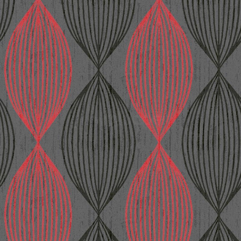Orbit Red Black Grey Contemporary Wallpaper GoWallpaper 800x800