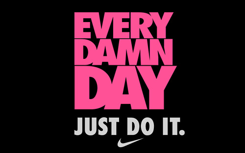 Every Damn Day Just Do It Nike Wallpaper Red and Black Nike Wal...