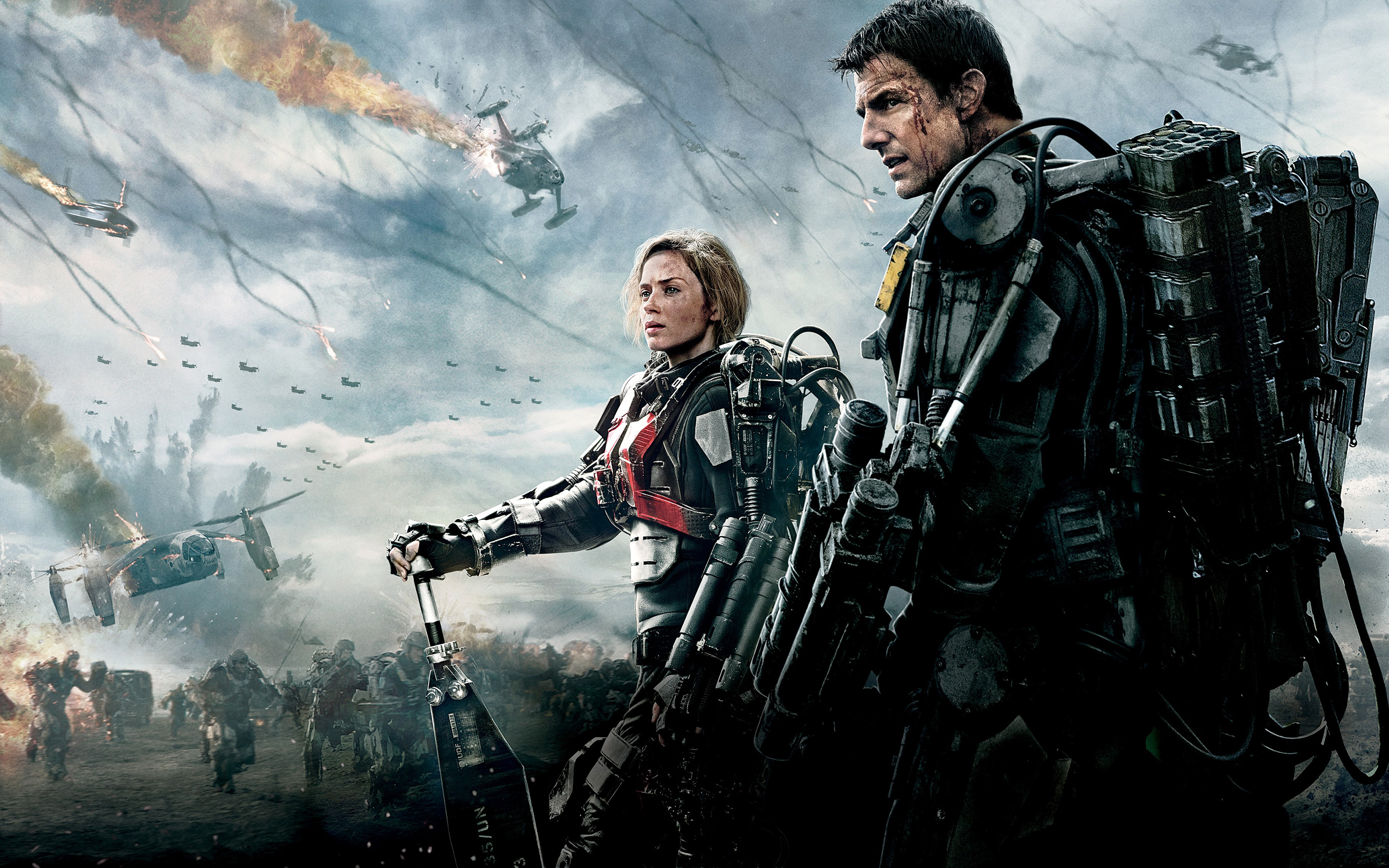 Edge Of Tomorrow Emily Blunt Tom Cruise Wallpaper HD 2880x1800