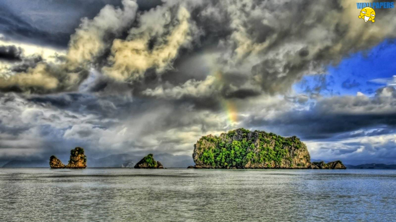 Rainbow ocean hdr wallpaper 1600215900 Creative Design 1600x900