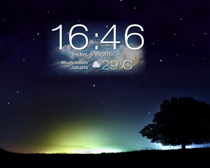Asus Padfone 2 Clock and Weather for Xwidget by boyzonet on 872x696