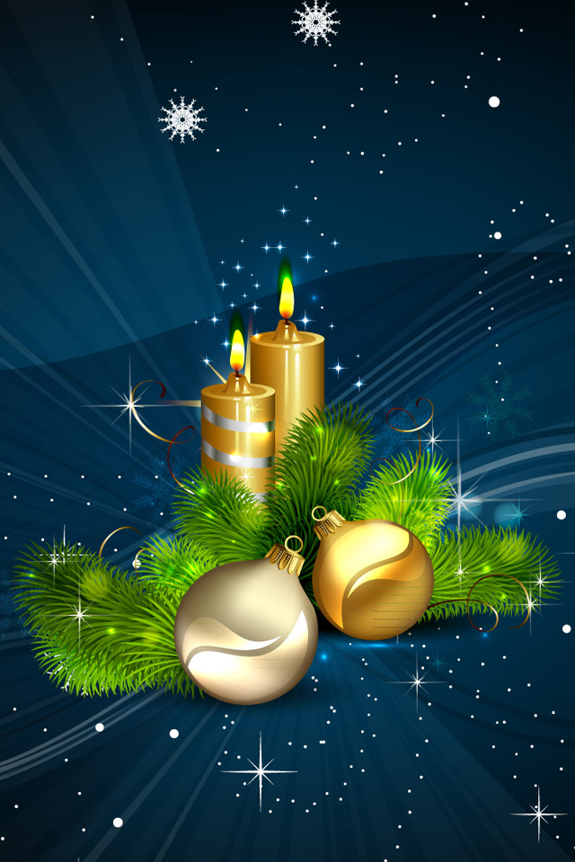 Free Download Christmas Candles Lights Iphone Wallpapers