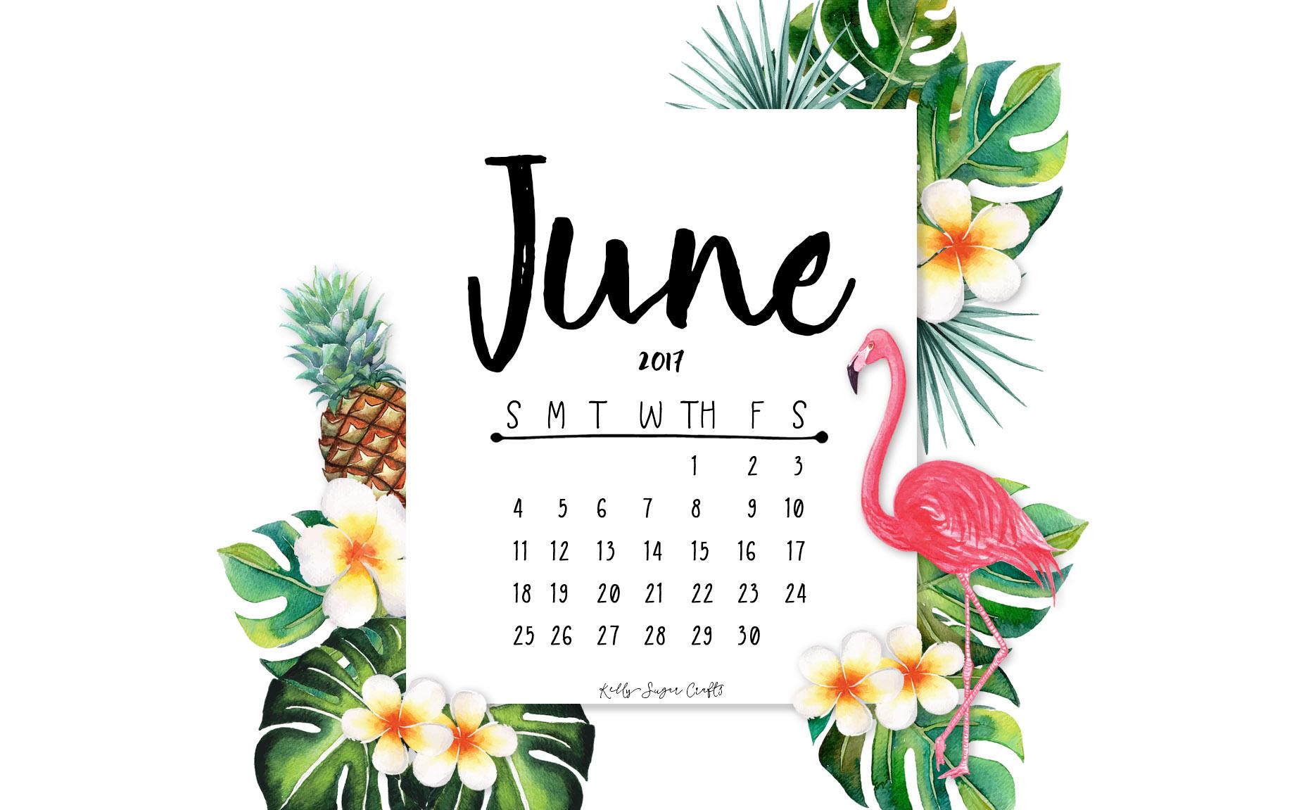 June 2017 Printable Calendar Wallpapers Kelly Sugar Crafts 1856x1151