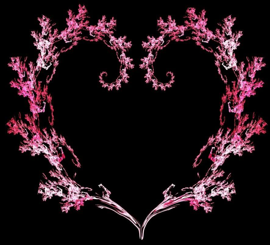 Black And Pink Heart Wallpaper 886x806