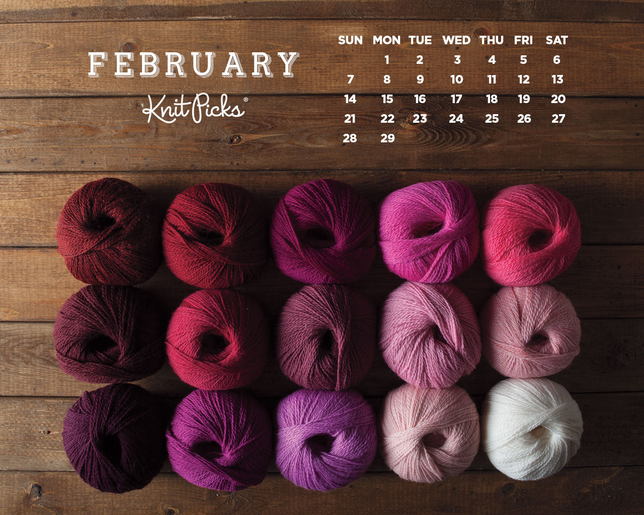 February 2016 Calendar   KnitPicks Staff Knitting Blog 1280x1024
