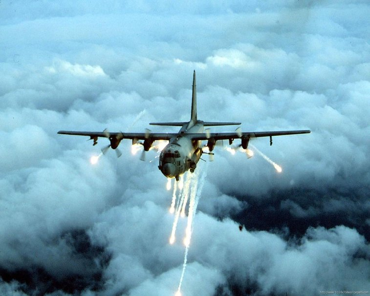 AC 130 with flares wallpaper   ForWallpapercom 757x606
