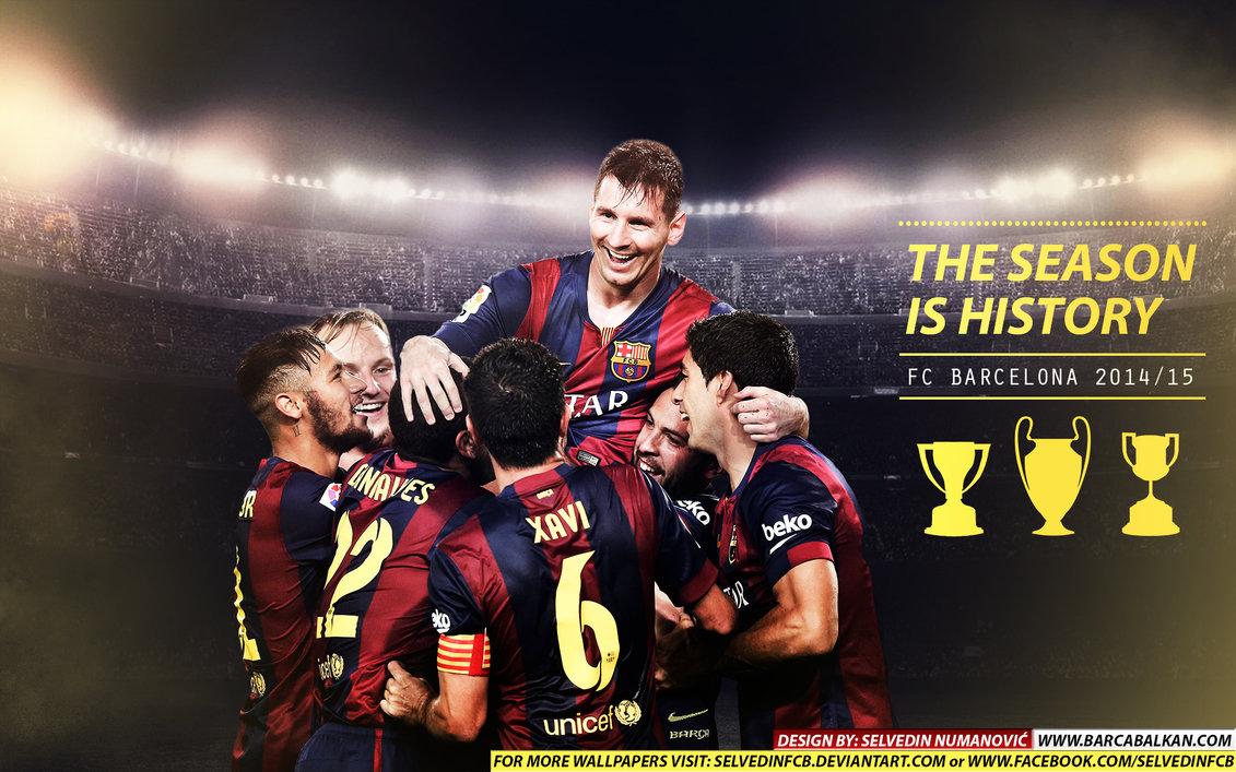 FC Barcelona CHAMPIONS 2015 HD WALLPAPER by SelvedinFCB 1131x707