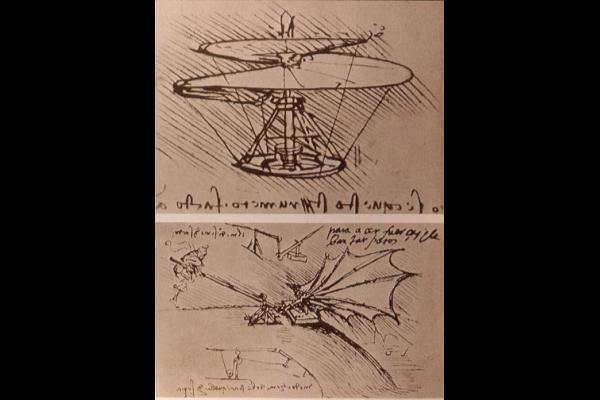 Science and inventions of Leonardo da Vinci Wallpaper 600x400