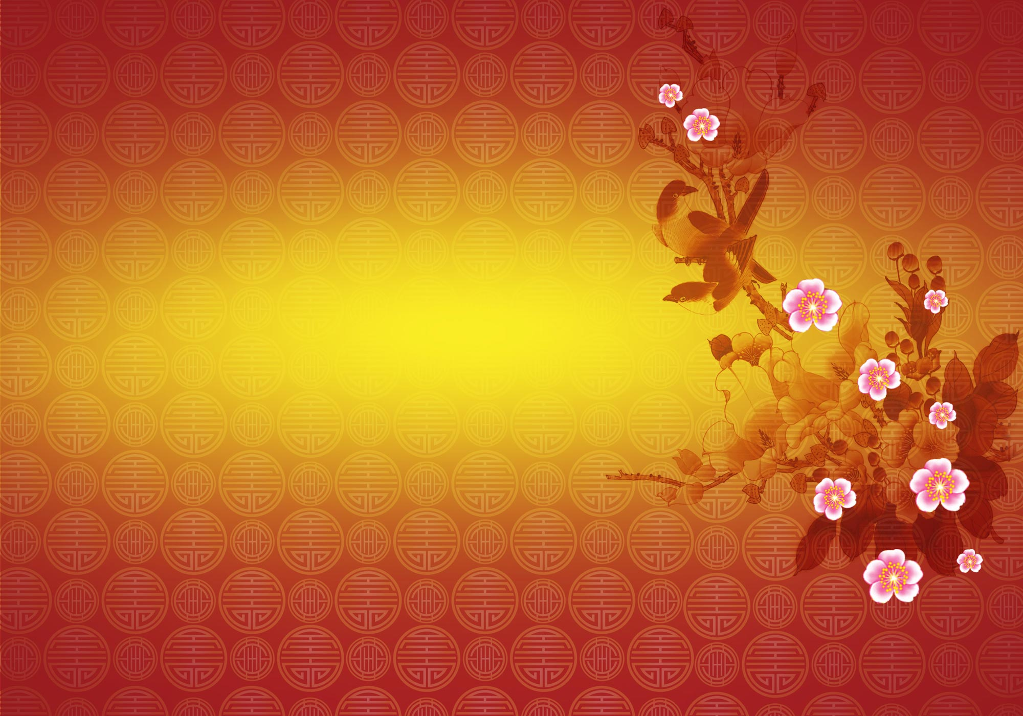 Chinese New Year 2013 Background Design with PSD File 2000x1400