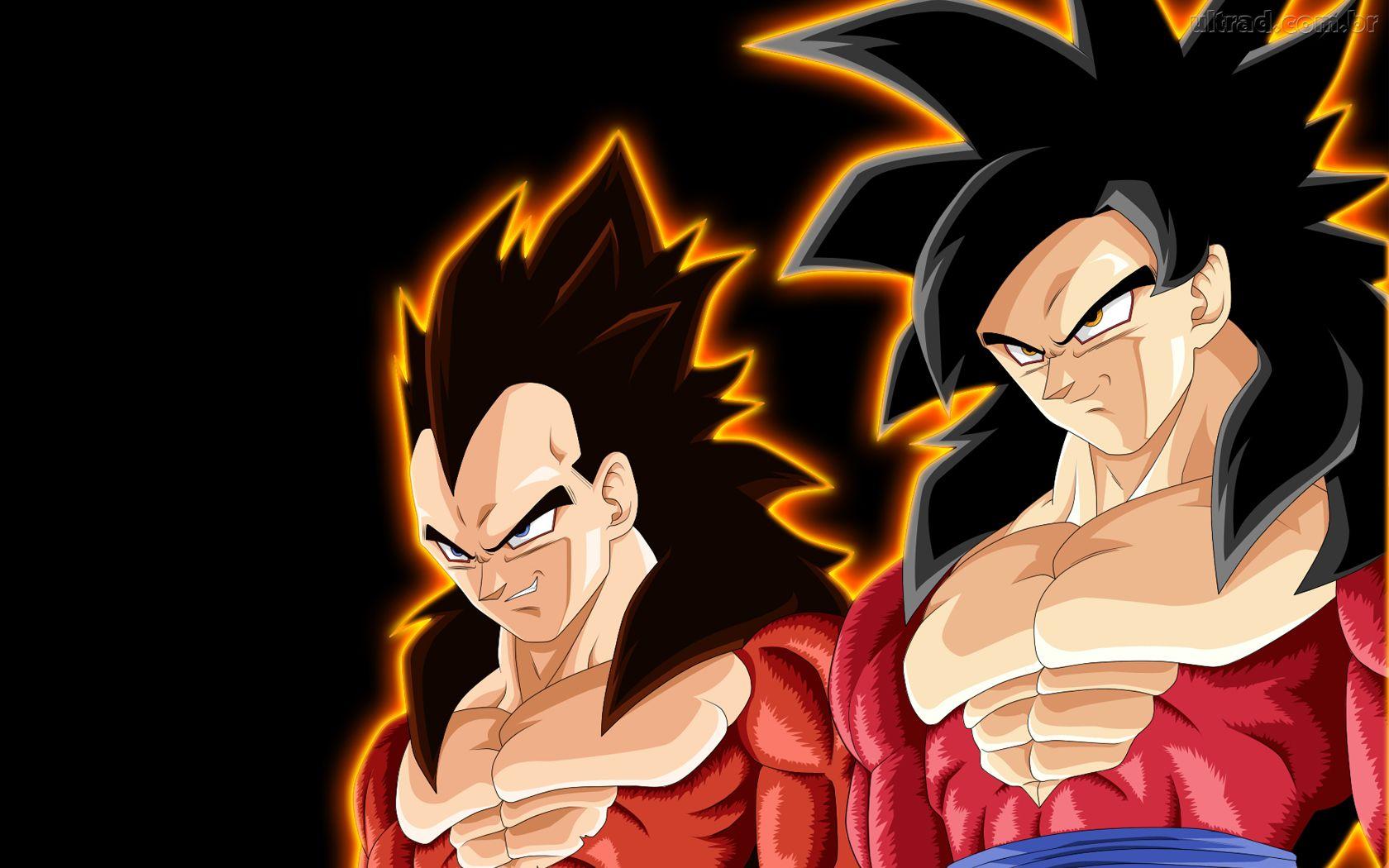 Papel de Parede Goku e Vegeta Super Saiyajin 4   Dragon Ball GT 1680x1050