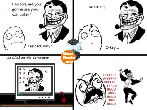 Troll Dad Meme   Desktop background 500x373