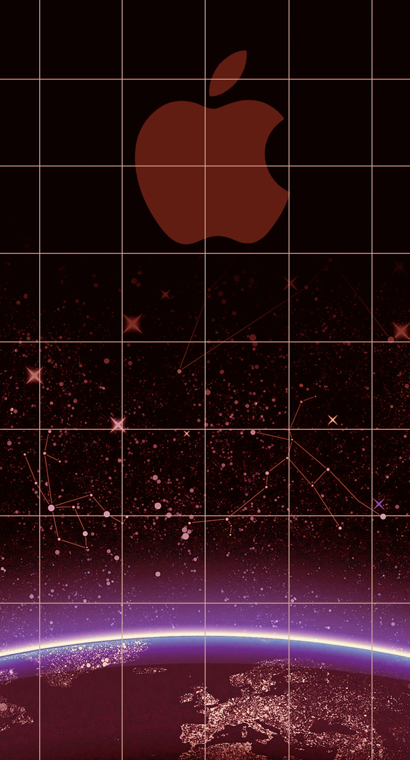 Apple logo shelf cool red universe wallpapersc iPhone7Plus 1398x2592