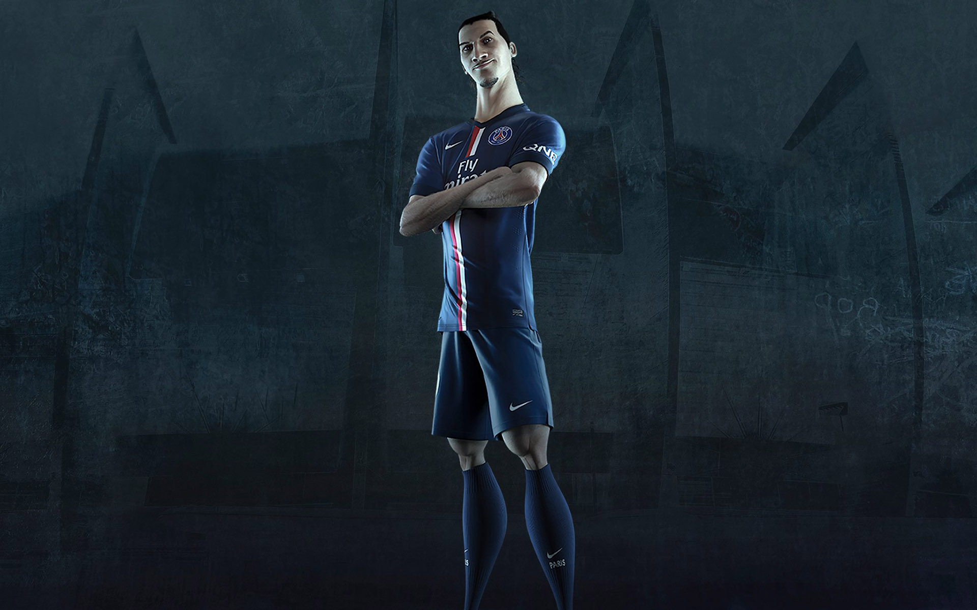 Zlatan Ibrahimovic PSG Jersey 2014 2015 Home Kit Wallpaper 1920x1200