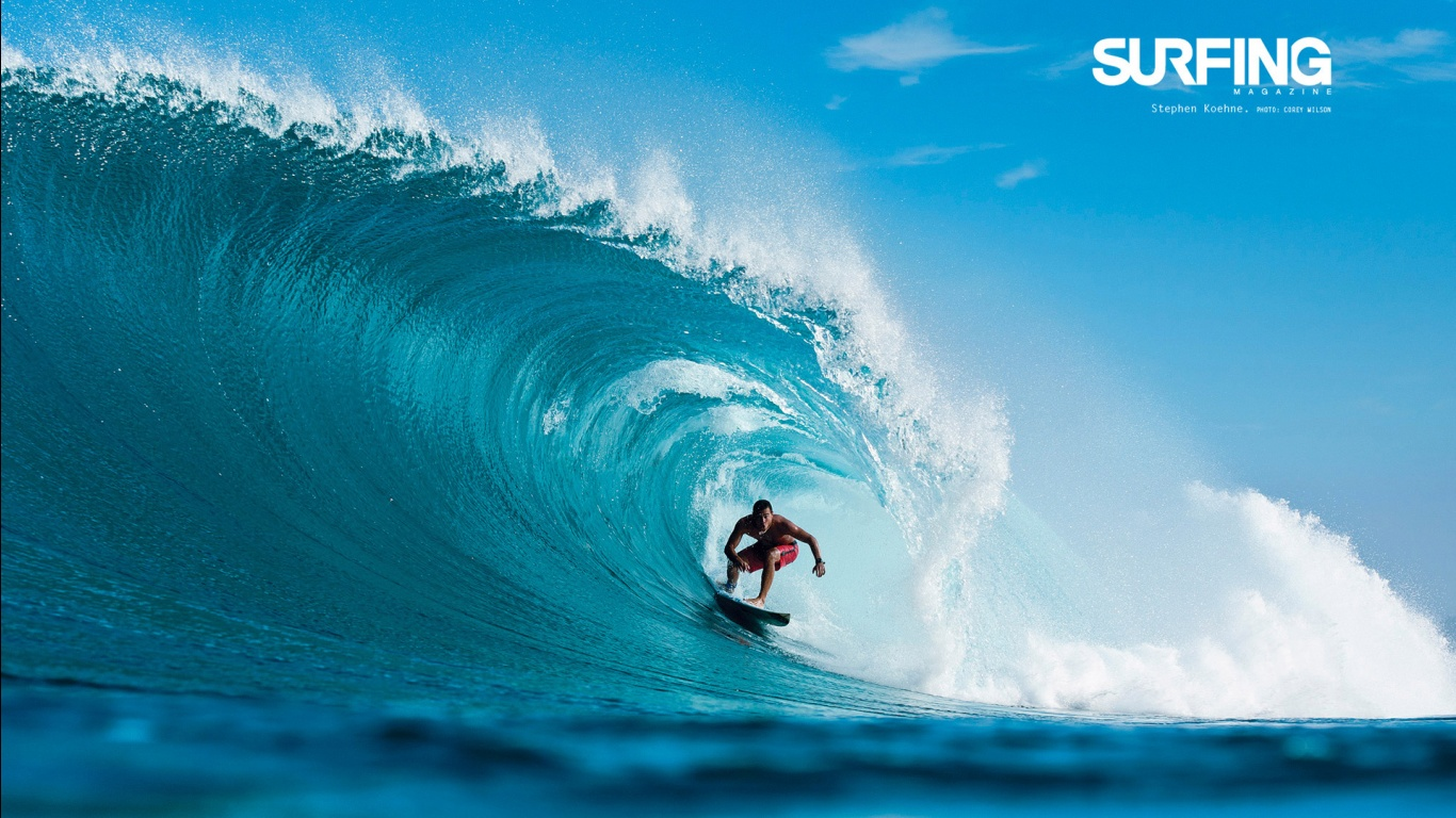 Surfing in Teahupoo Tahiti Wallpapers HD Wallpapers 1366x768