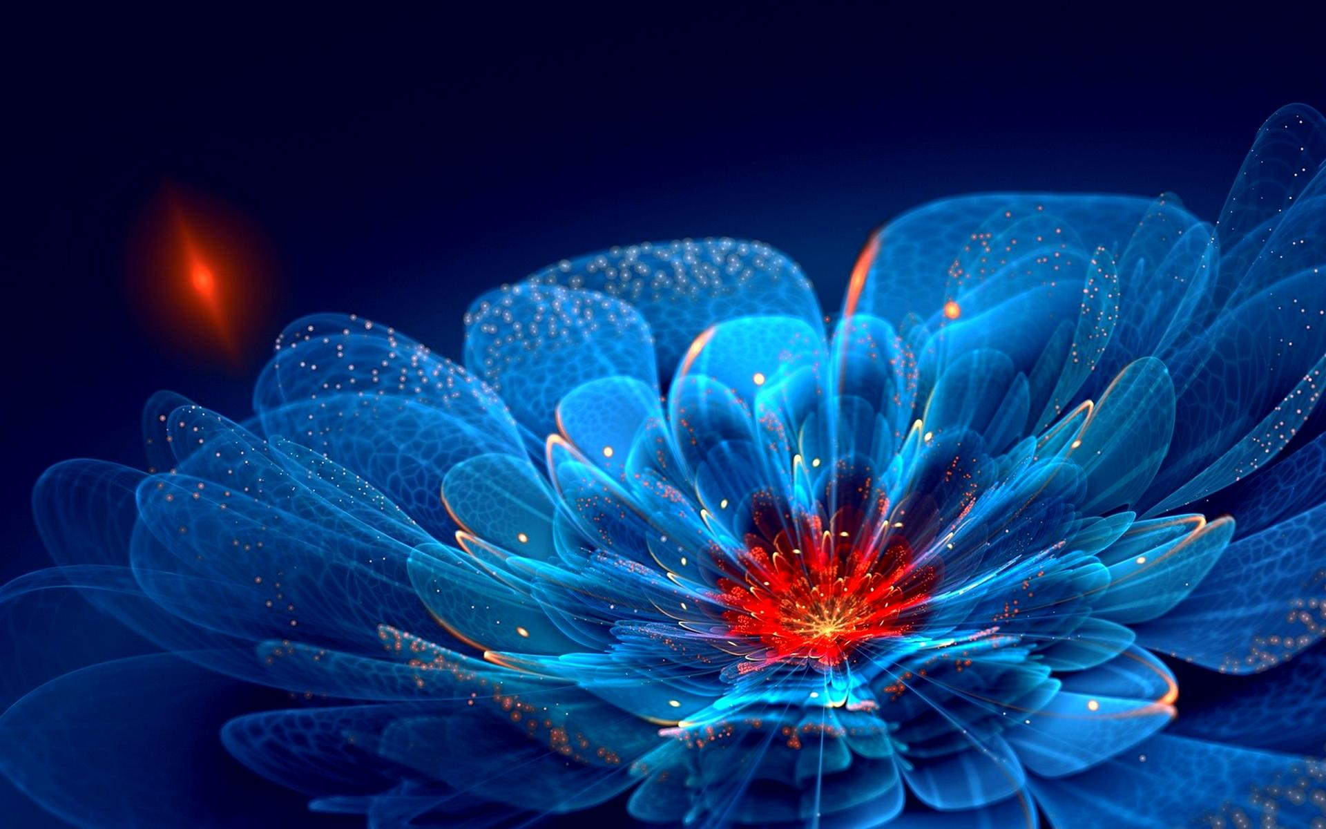 Wallpapers Of The Day Fantastic Neon Flowers 1920x1200 Fantastic 1920x1200