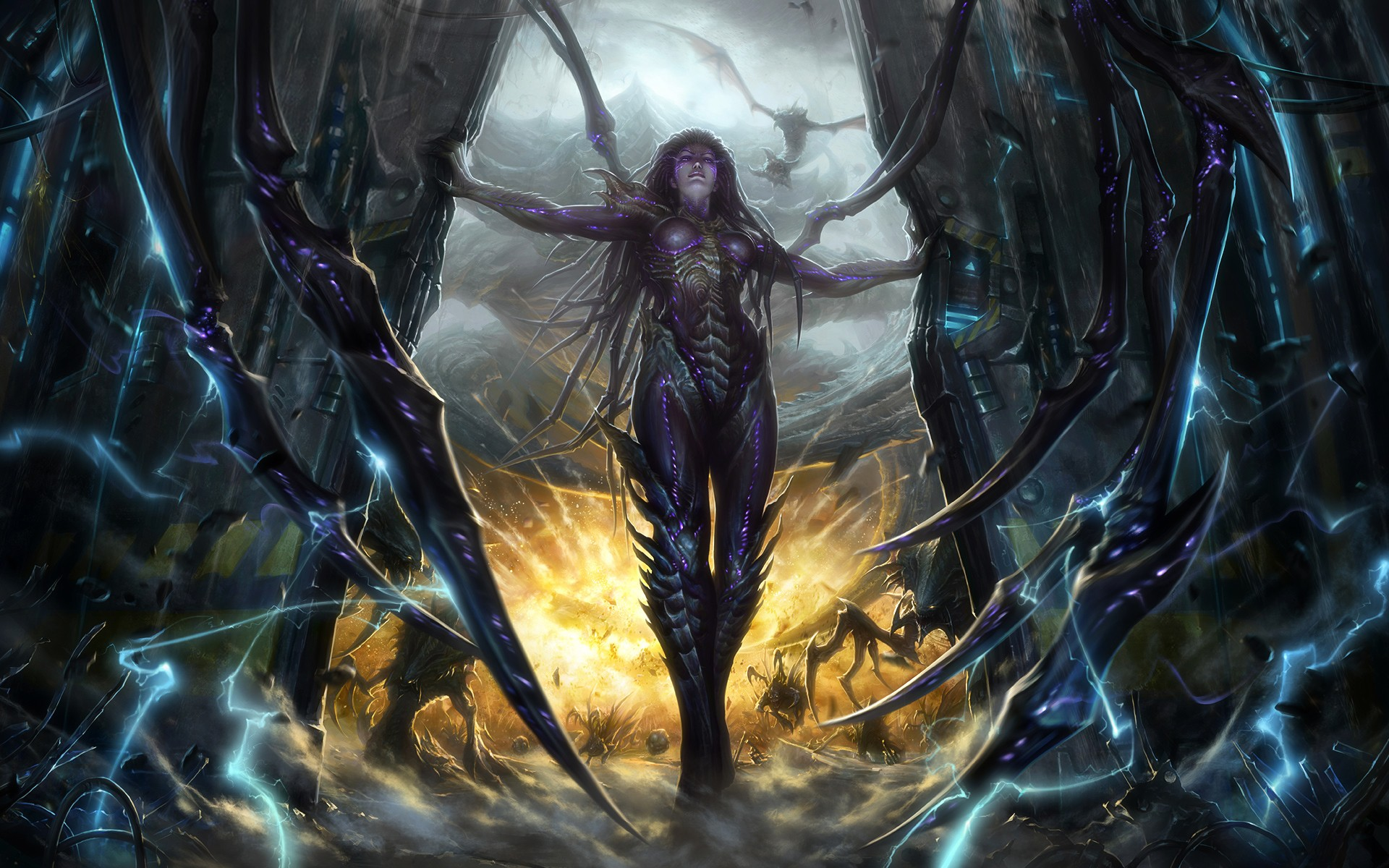 Entertainment StarCraft II blizzard game Kerrigan Wallpapers 1920x1200