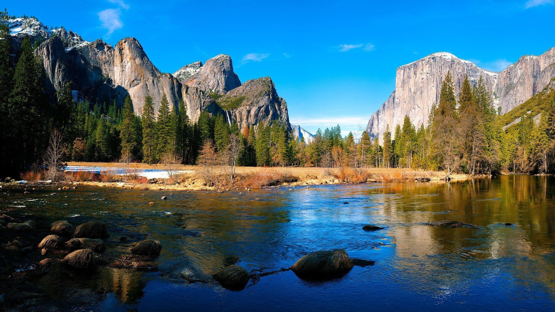 Background image yosemite - Yosemite Mountain Landscape Wallpaper Hd 13 High Resolution Wallpaper