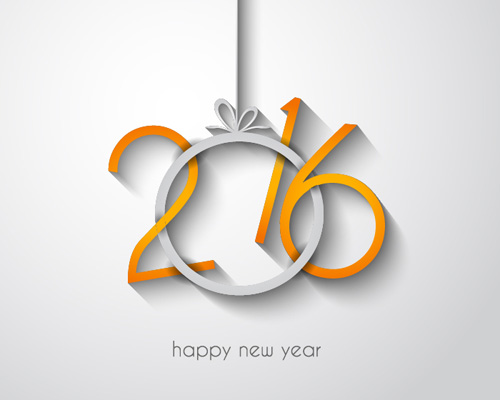 2016 new year creative background design vector 20   Vector Background 500x400
