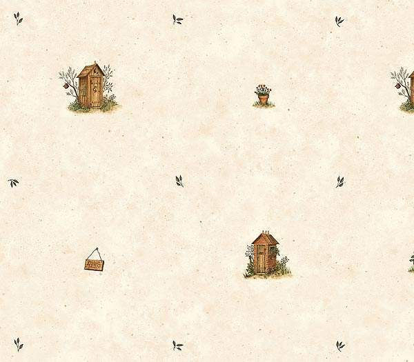 Outhouse Spot Wallpaper   Rustic Country Primitive 600x525