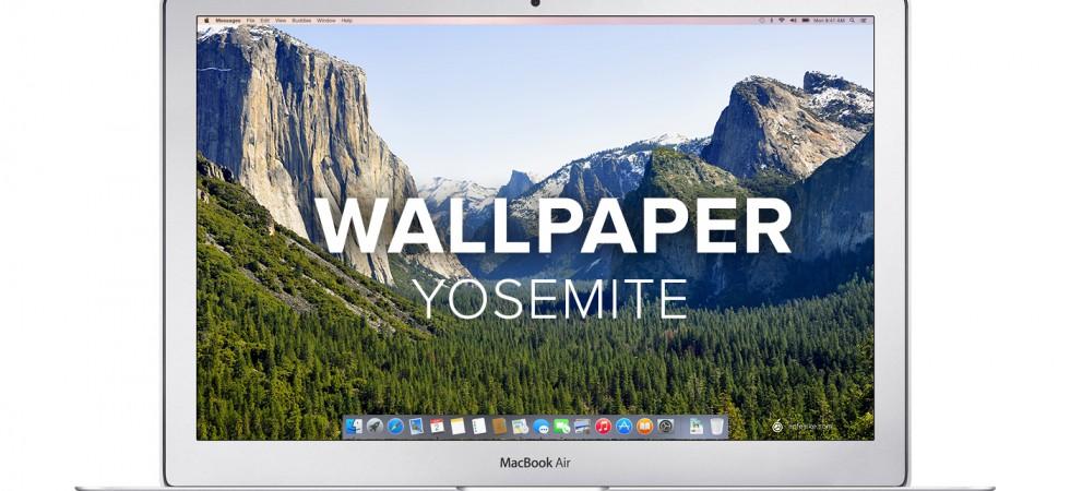 Apfellike Mac OS X Yosemite Wallpaper Schreibtisch 980x450