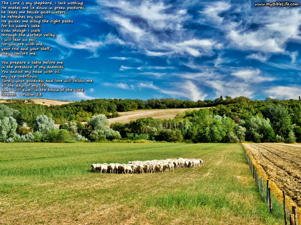 Psalm 23 Desktop Background 1024x768