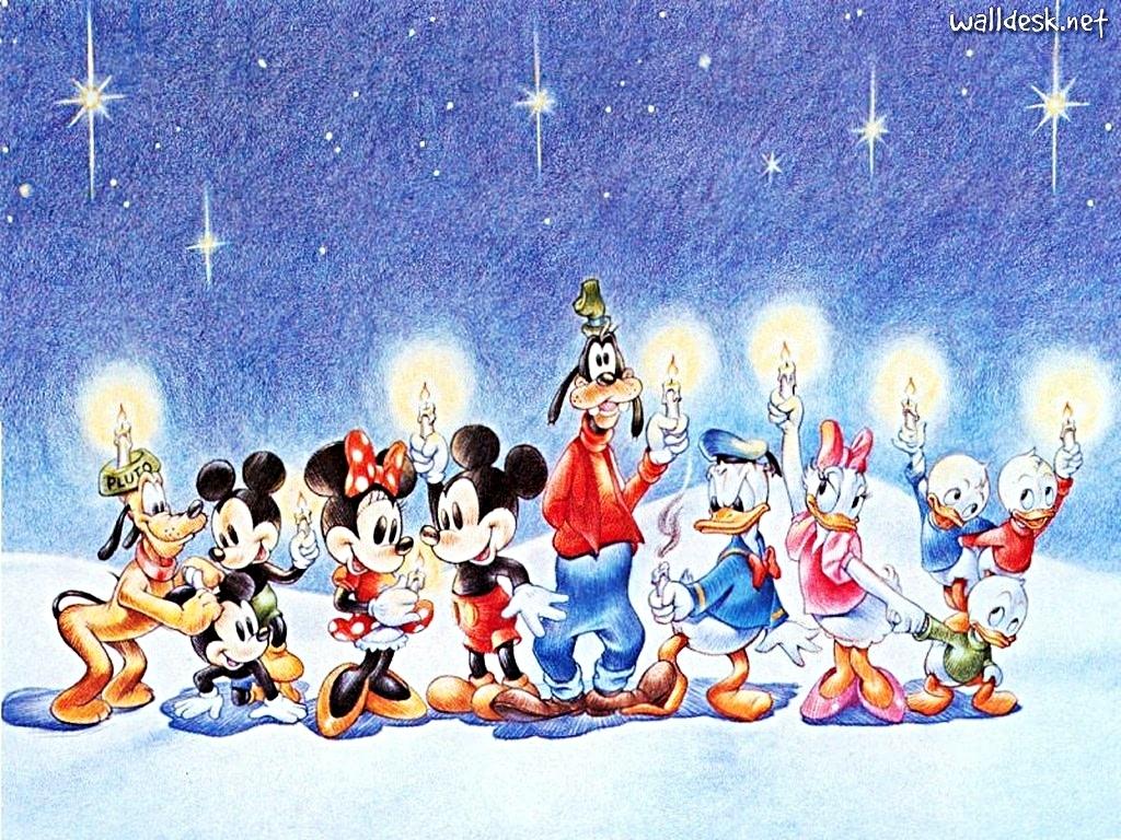 Walt Disney Wallpapers Merry Christmas Walt Disney Characters 1024x768
