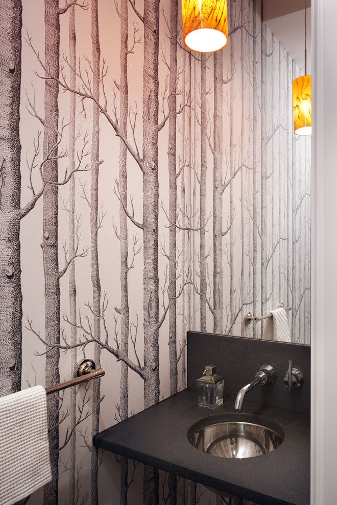 birch wallpaper in bath Cole Son UK 660x990