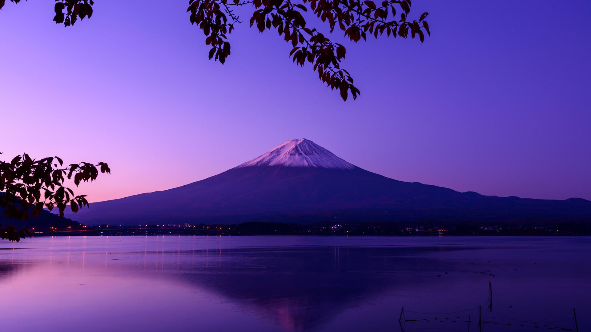 Landscape photography of Mount Fuji in Japan HD wallpaper 1920x1080