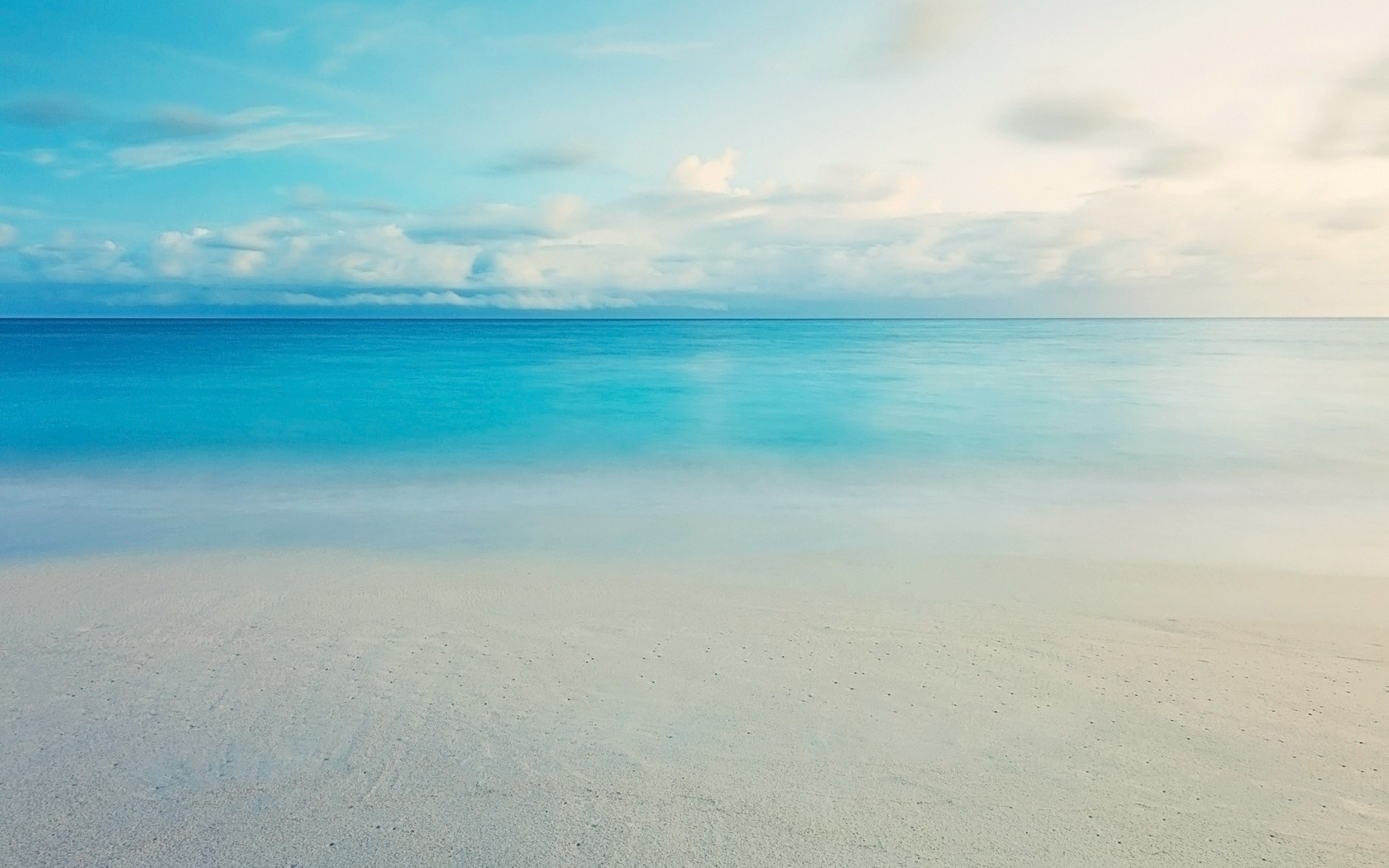 Calm blue ocean wallpaper 14485 1680x1050