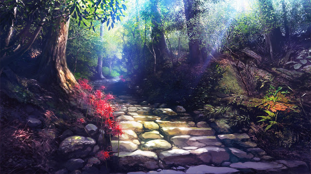 Galleries Related Anime Background Scenery Clouds Anime Background 640x360