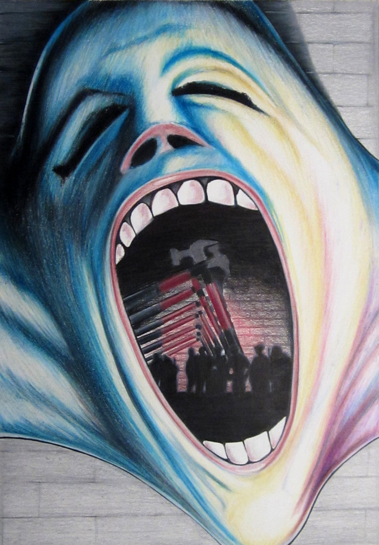 Pink Floyd The Wall Face Wallpaper Pink floyd the wall by skrob 745x1071