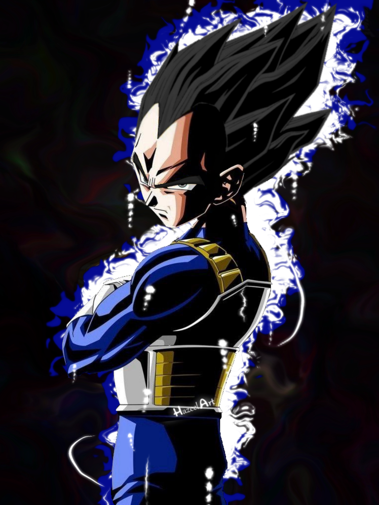 Ultra Instinct Vegeta   Portrait by HazeelArt 768x1024