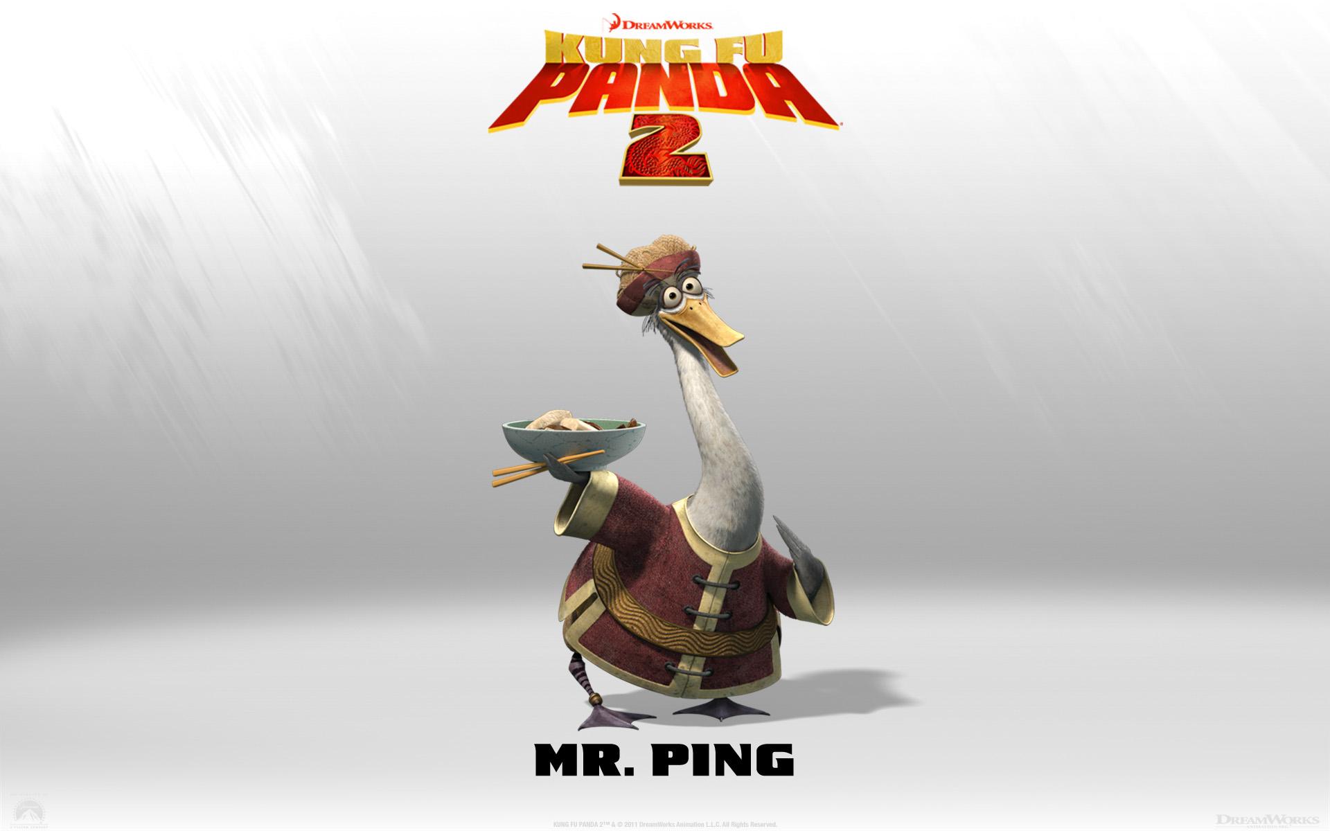 Mr Ping From Kung Fu Panda 2 Movie Desktop Wallpaper 1920x1200