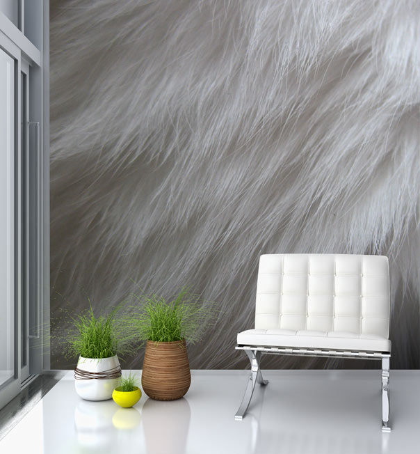 Furry Wallpaper For Bedrooms Fur wallpaper mural 604x652