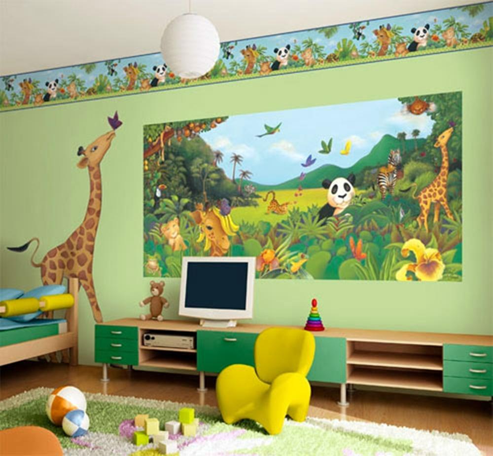 Kids Wallpapers For Bedroom Jungle Theme Wallpaper For Kids Wallpapersafari