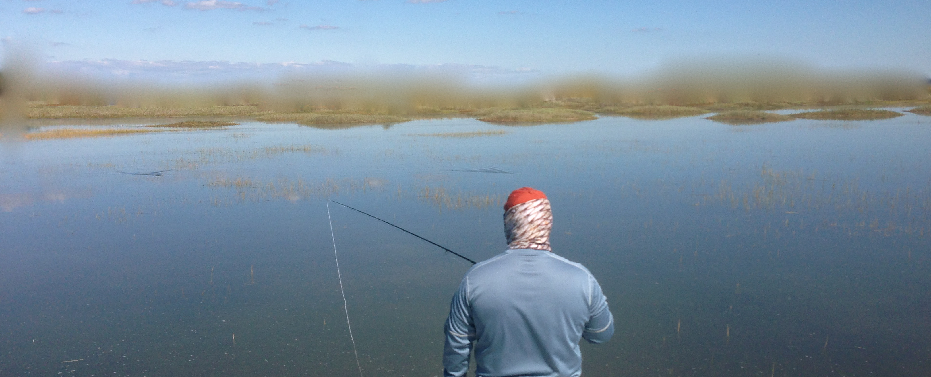 Saltwater Fly Fishing Wallpaper Fly fishing for redfish in the 3243x1315