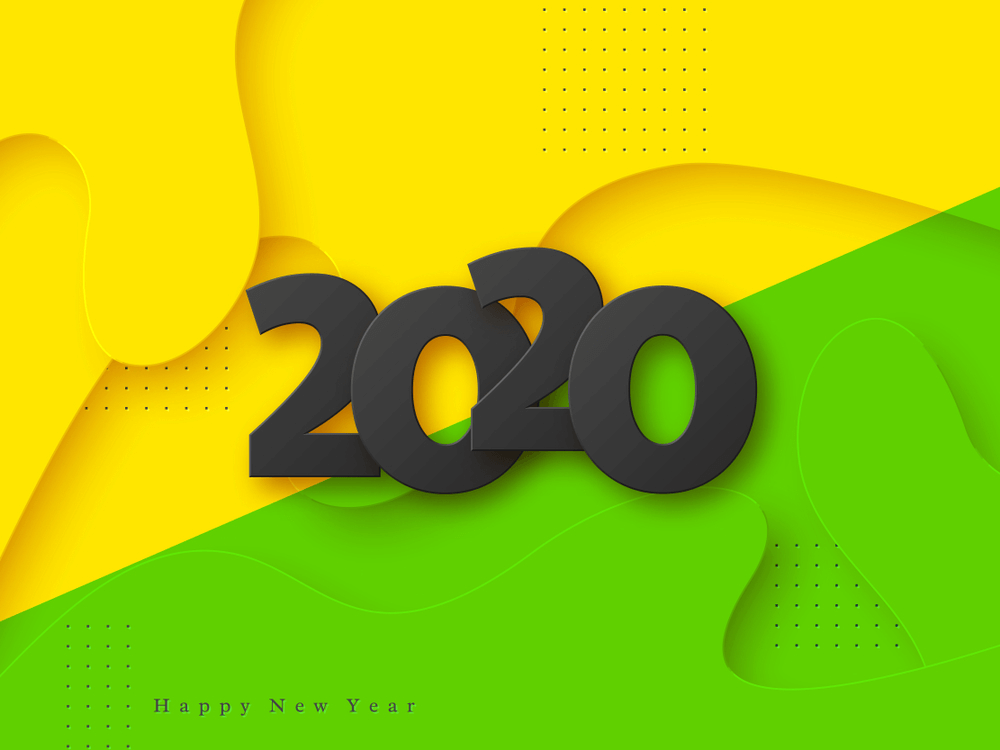 New Year 2020 Wallpaper Lemon Colors HD   Happy New Year 2020 1000x750