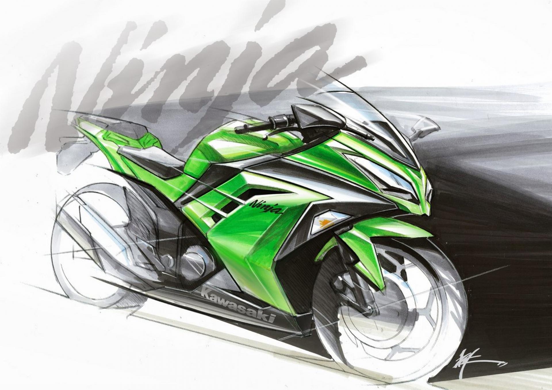 Kawasaki Ninja 300 Black Wallpaper Image 323 1920x1357