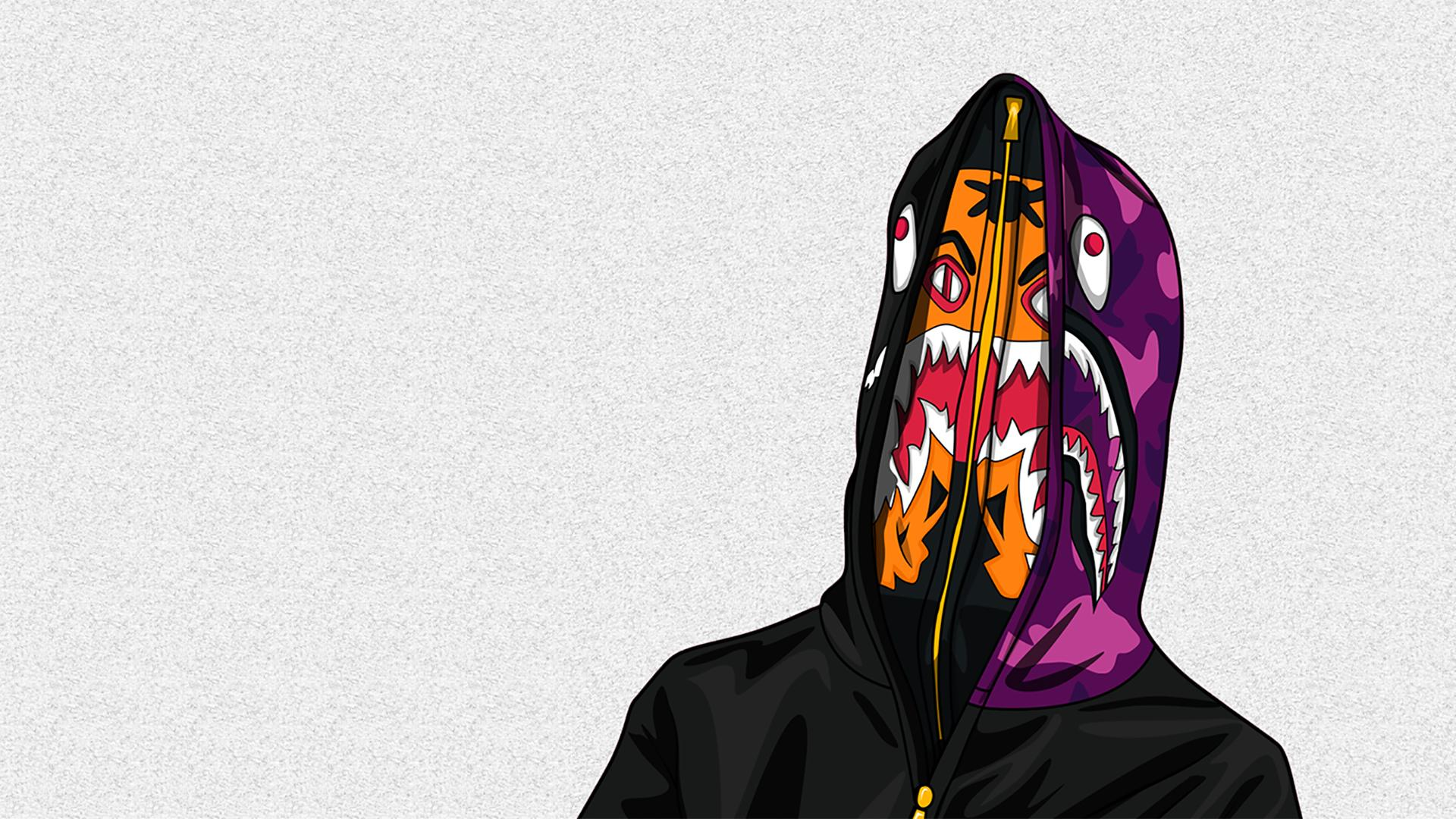 bape shark wallpaper wallpapersafari