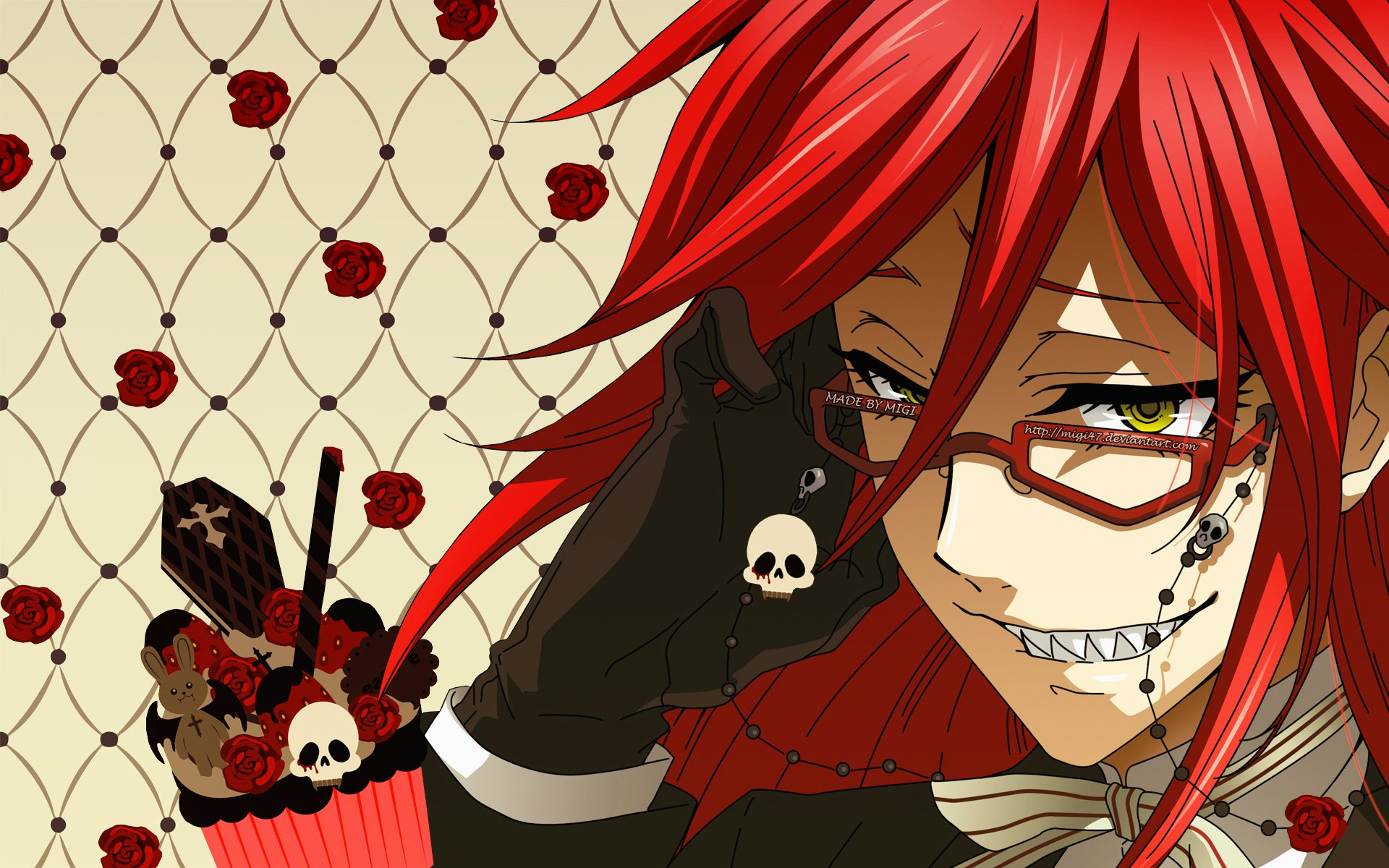 Gothic Prince   Grell Sutcliffe Wallpaper 6900897 1920x1200